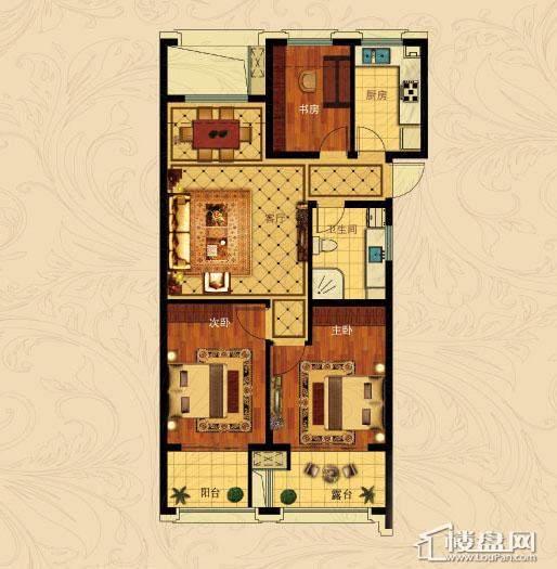 中国铁建国际城B-5(奇数层)3室2厅1卫1厨 88.00㎡
