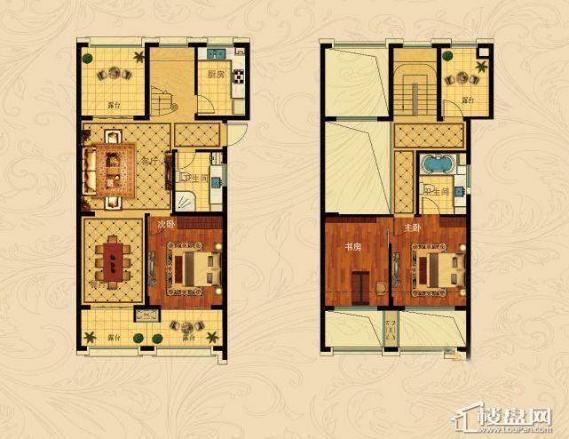 中国铁建国际城B-5(跃层)3室2厅2卫1厨 137.00㎡