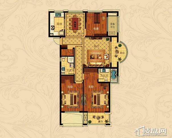 中国铁建国际城C-3(偶数层)3室2厅2卫1厨 127.00㎡