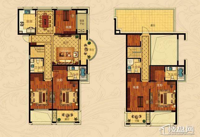 中国铁建国际城C-3(跃层)5室2厅4卫1厨 197.00㎡