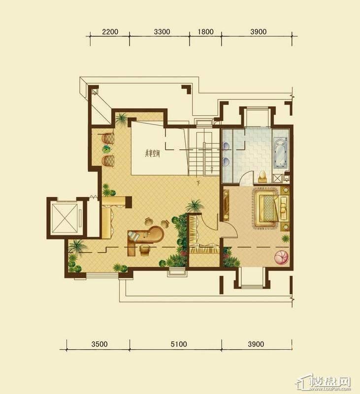 辰能溪树河谷A户型5层阁楼 2室1厅1卫
