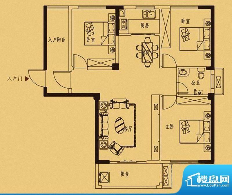 百捷中央墅府6#楼01面积:0.00m平米