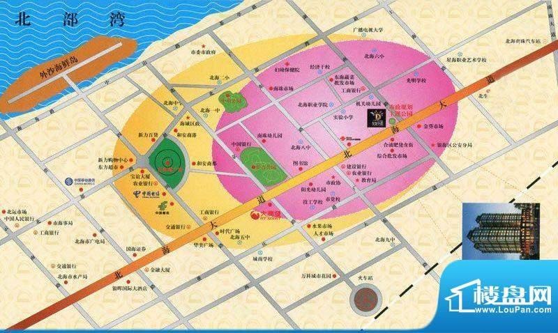 东旭华庭项目区位图