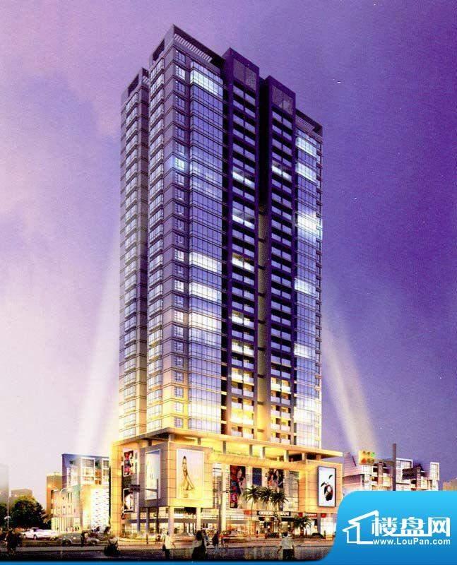 光华大厦项目沿街夜景效果图