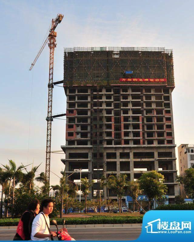 光华大厦20111204项目施工进度:建至17
