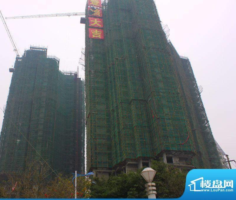 海辰国际项目施工进度:封顶(2012-02-