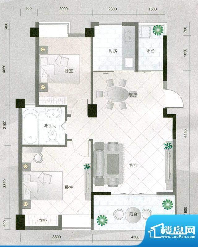 华杰·赫尔馨居A1户面积:81.78m平米