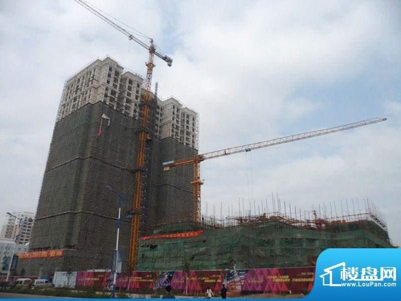 阳光金海岸项目整体施工全景实景201202