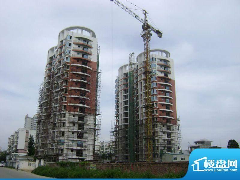 天富花苑项目施工远景图20110824