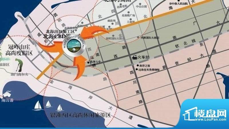 君临·西海岸交通图