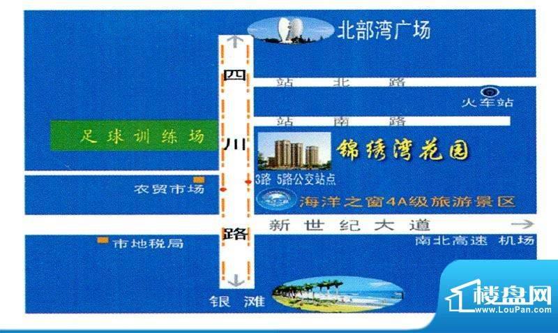 锦绣湾花园交通图