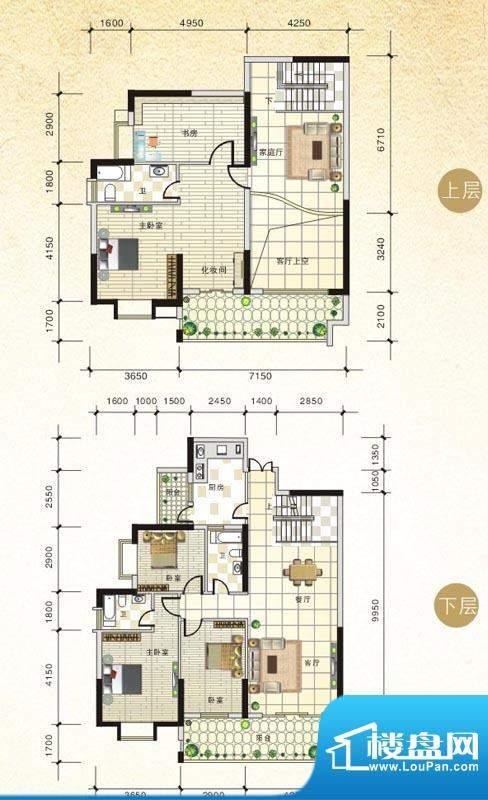 北海国际新城5#D户型面积:238.83m平米