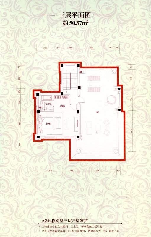 A2独栋别墅三层平面图