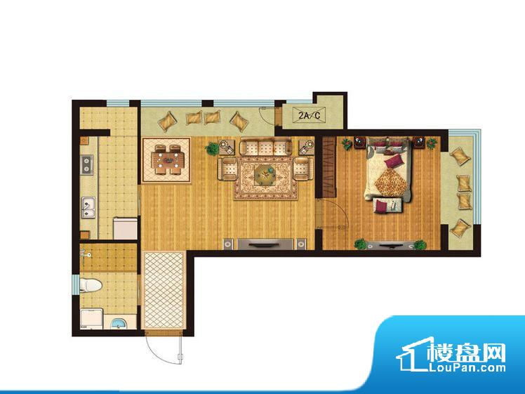 各个空间方正,后期空间利用率高。卧室门朝向客厅,外人可以一目了然的看到卧室,私密性较差。客厅、卧室、卫生间和厨房等主要功能间尺寸以及比例合适,方便采光、通风,后期居住方便。