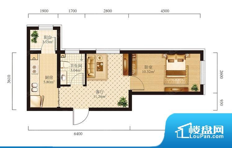 各个空间都很方正,方便后期家具的摆放。整个空间不够通透,不利于空气流通,尤其是夏天会比较热。主卧无卫生间,客卫在公共位置,自然主人需要和其他人共用,难免会发生不够用的情况。卧室门朝向比较吵闹的区域,不利于主人休息。客厅、卧室、卫生间和厨房等主要功能间尺寸以及比例合适,方便采光、通风,后期居住方便。公摊相对合理,一般房子公摊基本都在此范畴。日常使用基本满足。