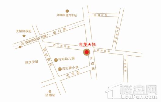 世茂天悦交通图