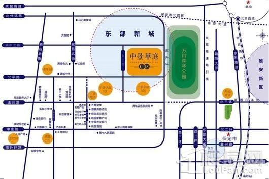 中景华庭C区交通图