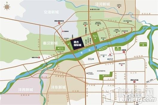 德杰·国际城交通图