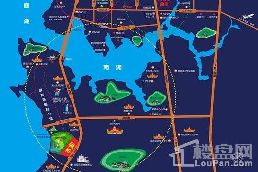 洞庭国际·半岛公园交通图