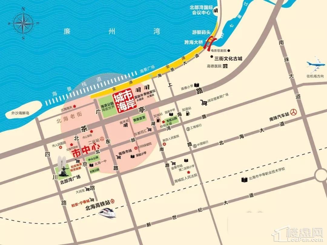 强盛城市海岸位置图