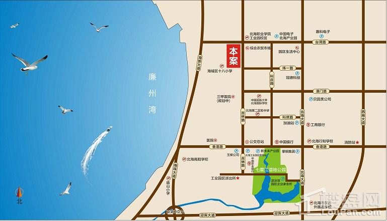汇联海湾明珠二期位置图