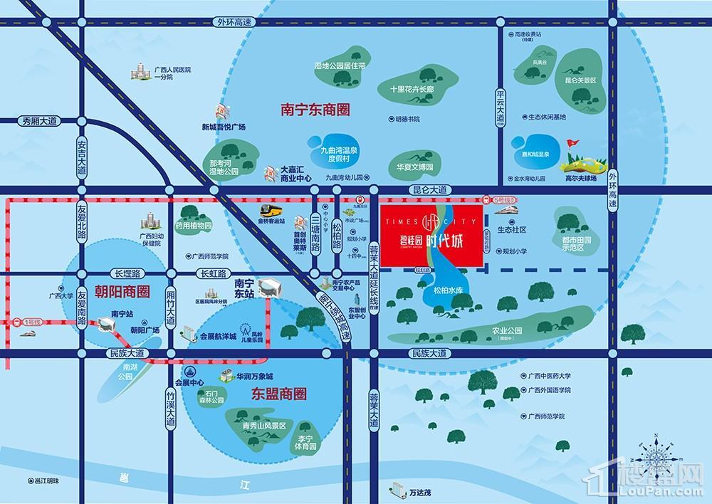 碧桂园时代城位置图
