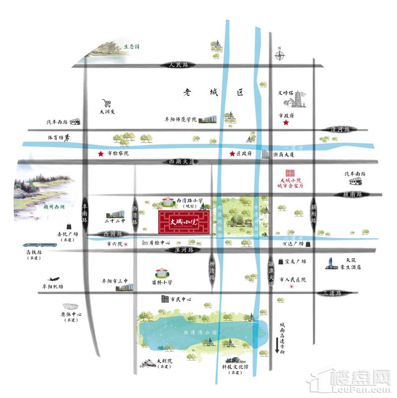 大城小院位置图