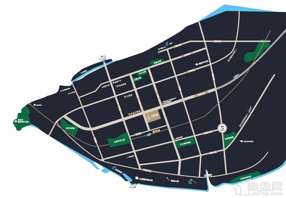 融创北海中心广场位置图