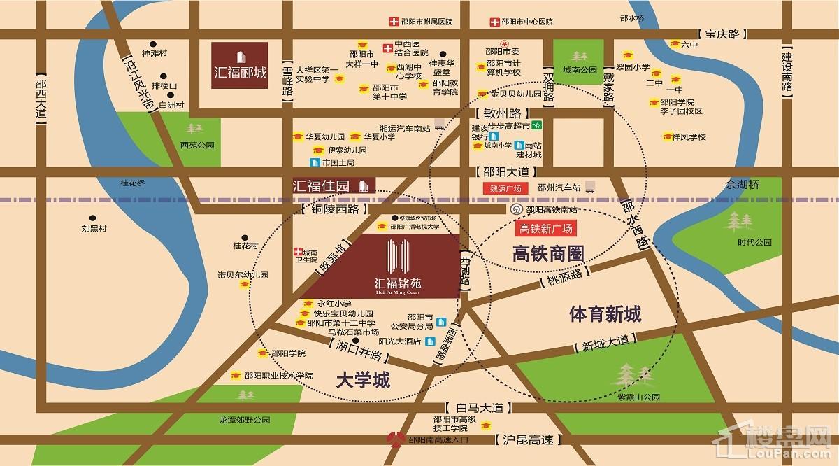 汇福铭苑位置图