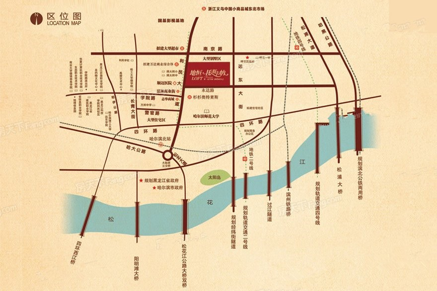 地恒 托斯卡纳洋房位置图