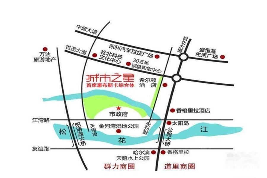 城市之星公寓位置图