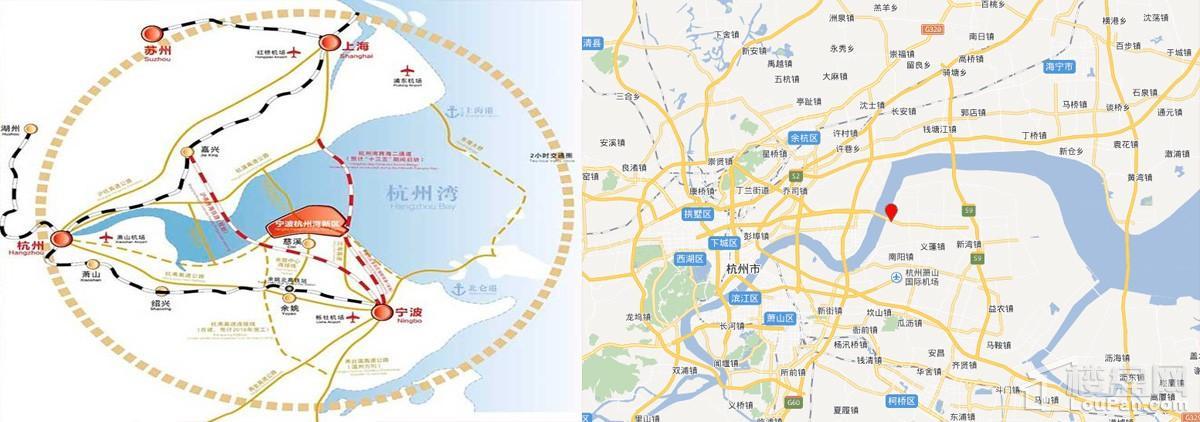 杭州湾绿地海湾位置图