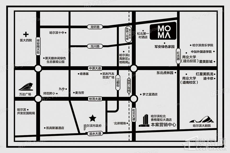 中亚MOMA位置图
