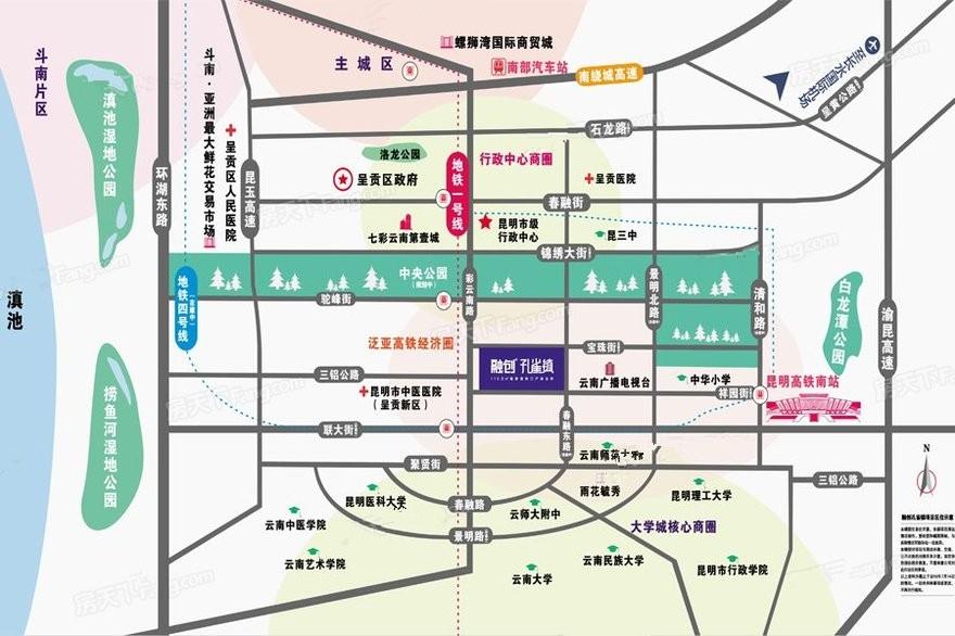 融创孔雀镇位置图