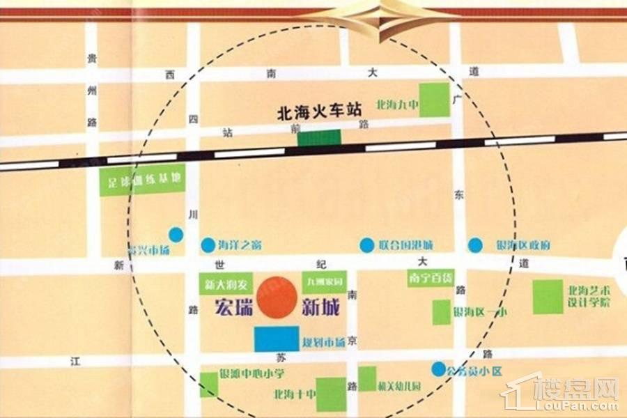 宏瑞新城  位置图
