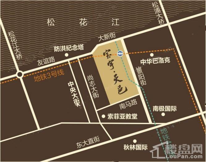 宝宇天邑澜湾位置图