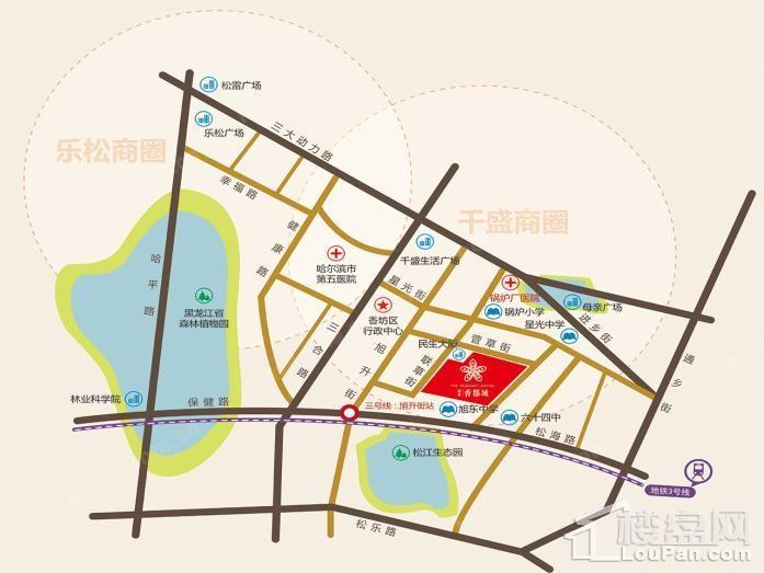 润禾·香都城位置图
