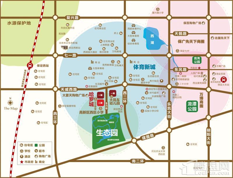哈罗城c区位置图