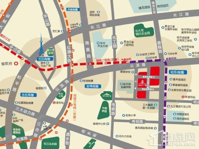 哈爾濱·恒大時代廣場位置圖