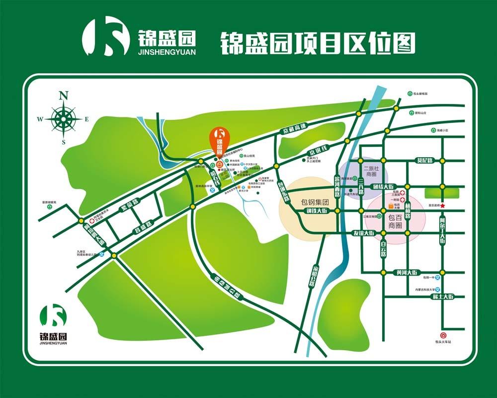锦盛园位置图