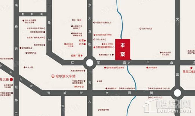 红军街1号位置图