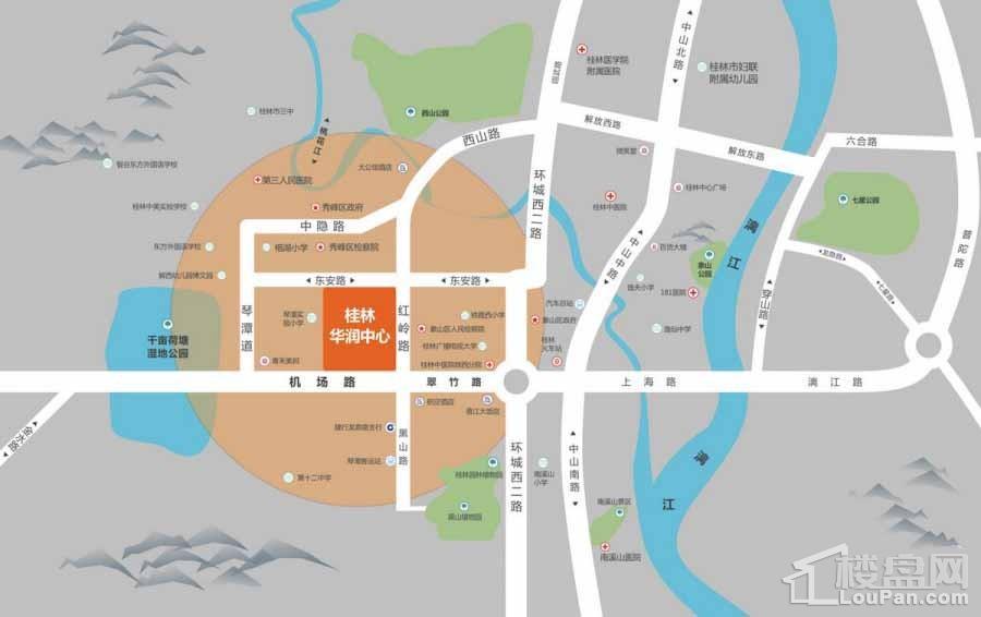 桂林华润中心位置图