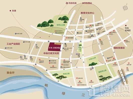 丹东保利香槟国际交通图