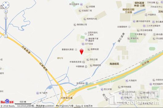 恒大盛京珺庭交通图