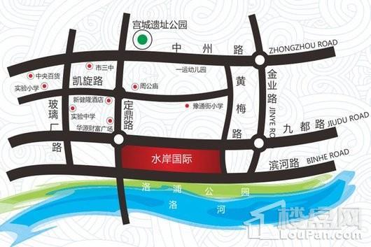 水岸国际交通图