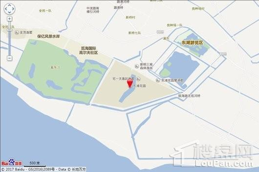 东滩花园交通图