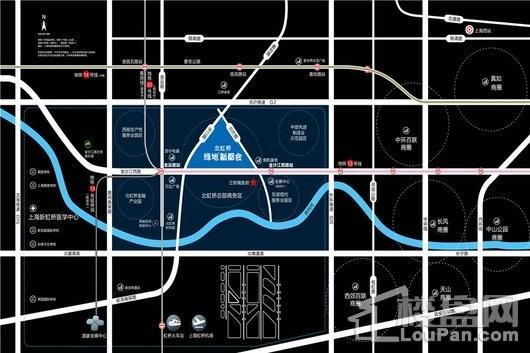 北虹桥绿地新都会交通图