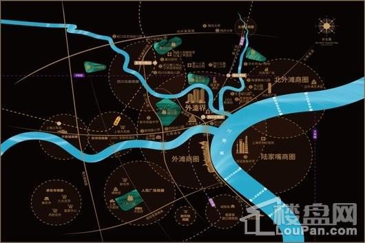 珠江铂世外滩界交通图