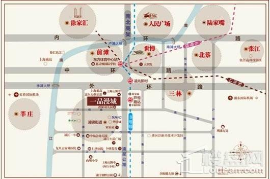 一品漫城尚郡交通图