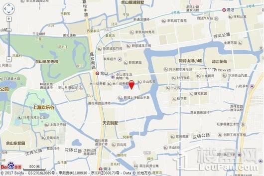 新城上坤樾山美墅交通图
